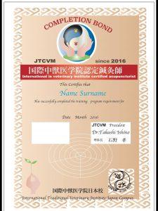 国際中獣医アカデミー日本校 ディプロマ