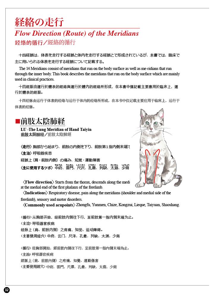 日中英版 犬猫の経穴(ツボ)アトラス-02