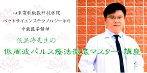 タイトル|侯显涛先生の低周波パルス講義|JTCVM国際中獣医学院日本校